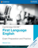 Book cover Cambridge IGCSE(TM) First Language English Exam Preparation and Practice