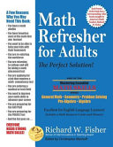 Book cover Math Refresher for Adults: The Perfect Solution