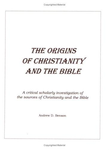 Book cover The Origins of Christianity and the Bible