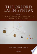 Book cover The Oxford Latin Syntax