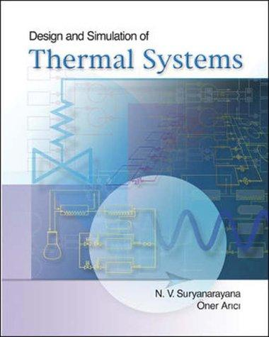 Book cover Design & Simulation of Thermal Systems