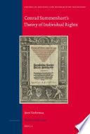 Book cover Conrad Summenhart's Theory of Individual Rights