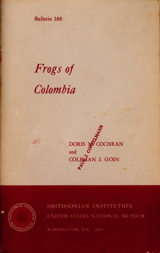Frogs of Colombia