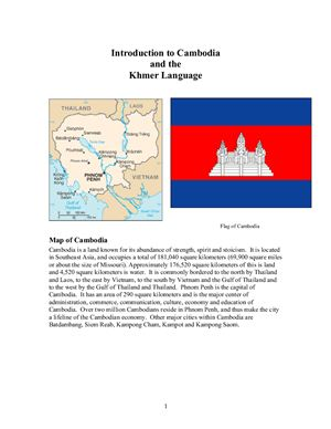 Introduction to Cambodia and the Khmer Language