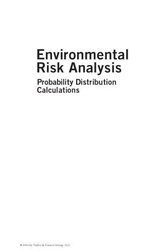 Environmental risk analysis : probability distribution calculations