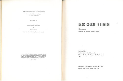 Basic course in Finnish