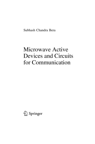 Microwave Active Devices and Circuits for Communication