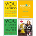 Unfuk Yourself, You Are a Badass and at Making Money, Girl Wash Your Face 4 Books Collection Set