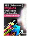 IIT JEE Advanced Part 1 Physics Challenging Problems Tests for Lakshya Batch IITJEE Questions Solutions Practice Papers CP Publication Career Point Kota