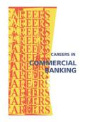 Careers in commercial banking, corporate banking, investment banking