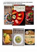 6 FREE COOKBOOK BOX SET WITH RECIPES FOR SUSHI, DUMP DINNERS, BEANS, SAMOSAS, MOROCCAN, AND BIRYANI BASH