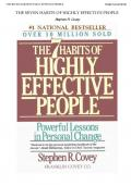 Seven Habits of Highly Effective People, Stephen R. Covey