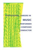 Professional Careers in Music: Performer, Composer, Conductor