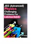 Part 2 of IIT JEE Advanced Physics Challenging Problems Tests for Lakshya Batch IITJEE Questions Solutions Practice Papers CP Publication Career Point Kota