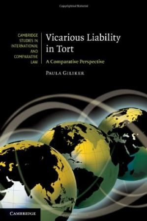 Book cover Vicarious Liability in Tort: A Comparative Perspective
