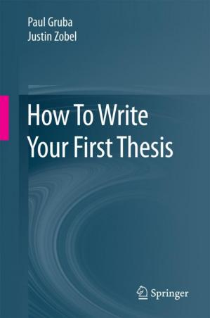 Book cover How To Write Your First Thesis