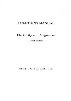 Book cover Electricity and Magnetism Solutions manual