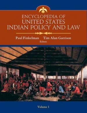 La couverture du livre Encyclopedia of United States Indian Policy and Law (Two volume set)