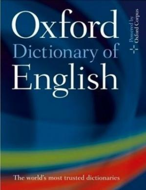 Book cover Oxford Dictionary of English