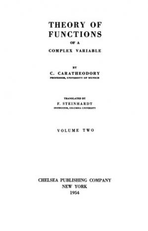 Book cover Theory of Functions of a Complex Variable, Volume Two
