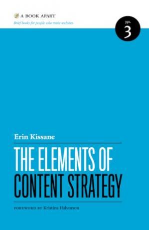 Book cover The Elements of Content Strategy