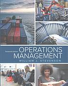 Book cover Operations management