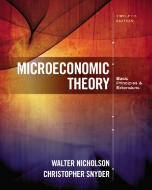 Book cover Microeconomic Theory: Basic Principles and Extensions