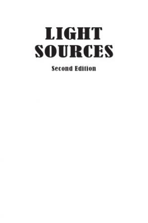 Book cover Light Sources: Basics of Lighting Technologies and Applications