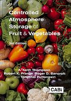 Couverture du livre Controlled atmosphere storage of fruit and vegetables
