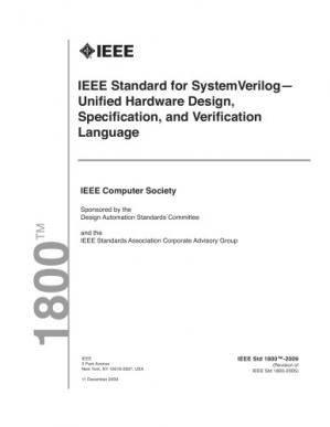 Book cover IEEE standard  1800-2009 for SystemVerilog--unified hardware design, specification, and verification language