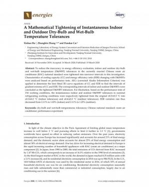 Обложка книги A Mathematical Tightening of Instantaneous Indoor and Outdoor Dry-Bulb and Wet-Bulb Temperature Tolerances