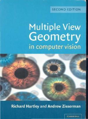 Couverture du livre Multiple View Geometry in Computer Vision