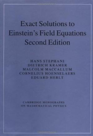 Գրքի կազմ Exact solutions of Einstein's field equations