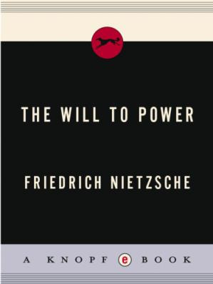 Book cover The Will to Power