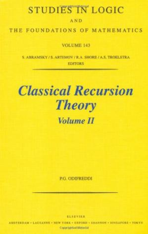 Book cover Classical Recursion Theory: Volume II