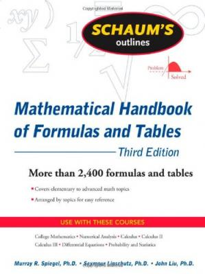 Okładka książki Schaum's Outline of Mathematical Handbook of Formulas and Tables