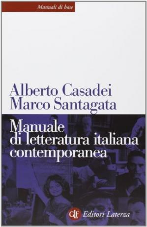 Book cover Manuale di letteratura italiana contemporanea