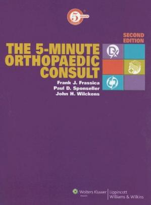 A capa do livro The The 5-Minute Orthopaedic Consult