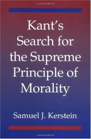 Book cover Kant's Search for the Supreme Principle of Morality