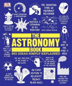 A capa do livro The Astronomy Book (Big Ideas Simply Explained)