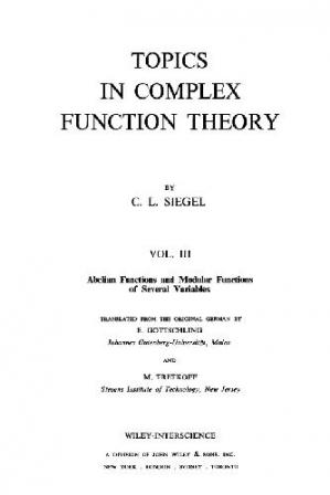 Book cover Topics in complex function theory. Abelian and modular functions of several variables