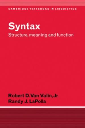 Book cover Syntax: Structure, Meaning, and Function
