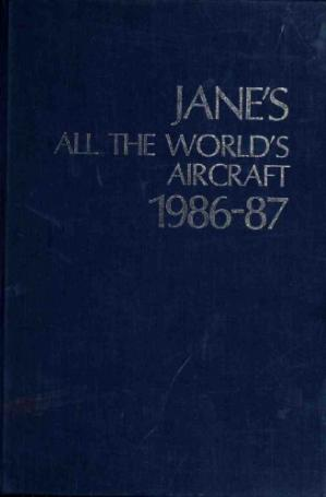 Book cover Jane's All the World's Aircraft 1986-87