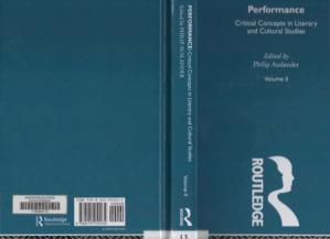 Book cover Performance:Critical Concepts in Literary and Cultural Studies Vol. II