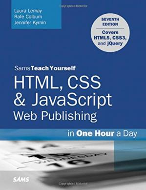 Book cover HTML, CSS & JavaScript Web Publishing in One Hour a Day