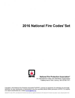 Book cover National Fire Protection Association All Codes and Standards
