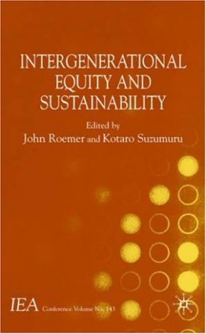 Couverture du livre Intergenerational equity and sustainability
