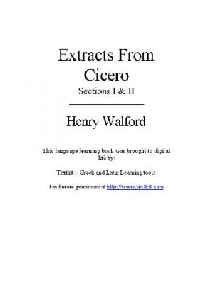 A capa do livro Extracts from Сicero