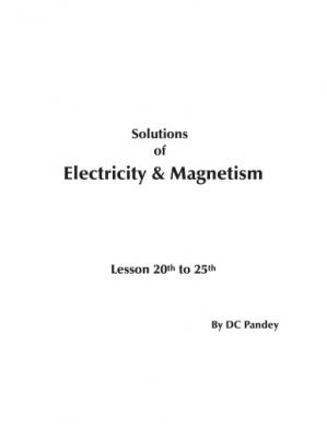 Portada del libro Solutions of Electricity & Magnetism. Lesson 20th to 25th
