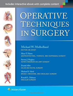 Book cover Operative Techniques in Surgery